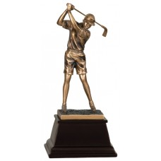 GSN14  Female Bronze Resin Golfer
